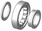 Cylindriskt rullager NUP 2208E - 40x80x23