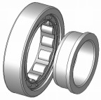 Cylindriskt rullager NJ 408 E - 40x110x27